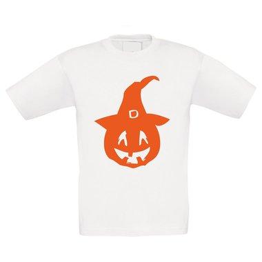 T-Shirt Kinder Halloween - Kürbis mit einem Hexenhut