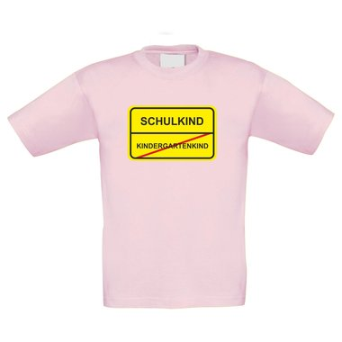 Kinder T-Shirt - Schulkind Schild
