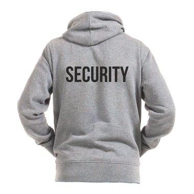 Sicherheitsdienst Security Bekleidung beidseitig bedruckt Herren Hoodie