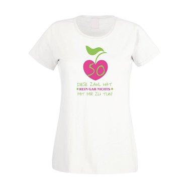 fd7ed8bff413a0 Damen T-Shirt 50. Geburtstag - Diese Zahl hat nichts mit mir zu tun