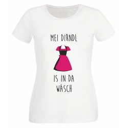 Damen T-Shirt - Mei Dirndl is in da Wäsch