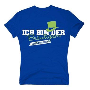 Jga Shirts Spruche T Shirt Herren Ich Bin Der Brautigam Jetzt Wirds Ernst