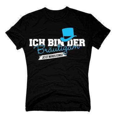 Jga Shirts Sprüche T Shirt Herren Ich Bin Der Bräutigam Jetzt Wirds Ernst