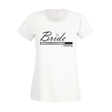 huge discount df1a3 f71d3 T-Shirt Druck JGA - Bride loading - Damen T-Shirt