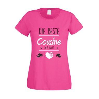 Damen T Shirt Die Beste Cousine Der Welt