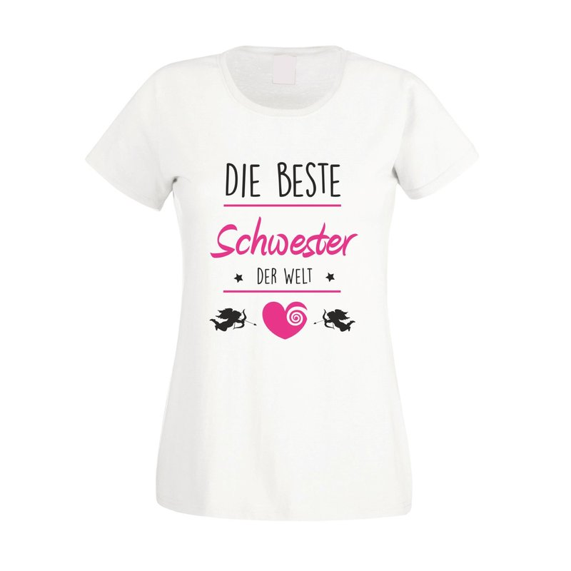 damen t shirt die beste schwester der welt. Black Bedroom Furniture Sets. Home Design Ideas