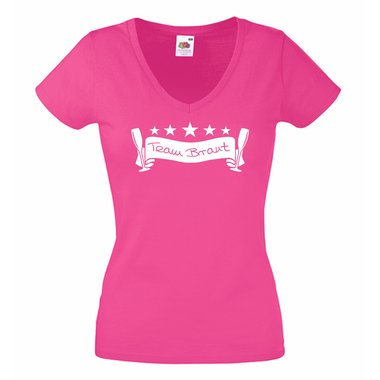 JGA T Shirts - Damen T-Shirt V-Ausschnitt Team Braut Junggesellenabschied b3c0ba382d
