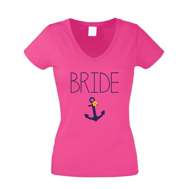 JGA T-Shirt Damen V-Ausschnitt - Bride Anchor