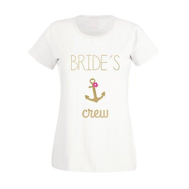 JGA Damen T-Shirt - Brides Crew Anchor