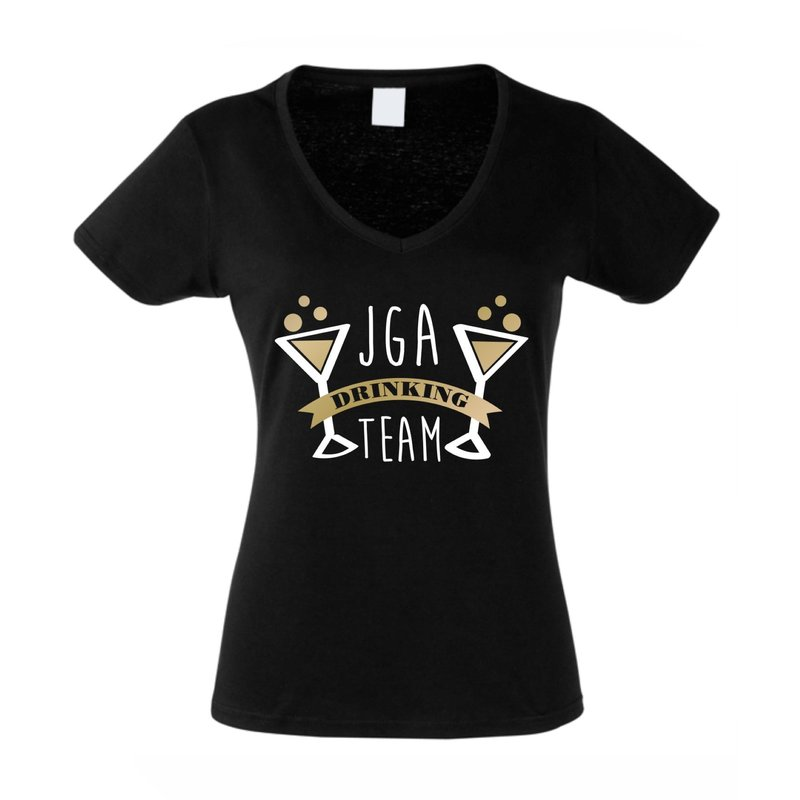 jga damen t shirt v ausschnitt drinking team. Black Bedroom Furniture Sets. Home Design Ideas