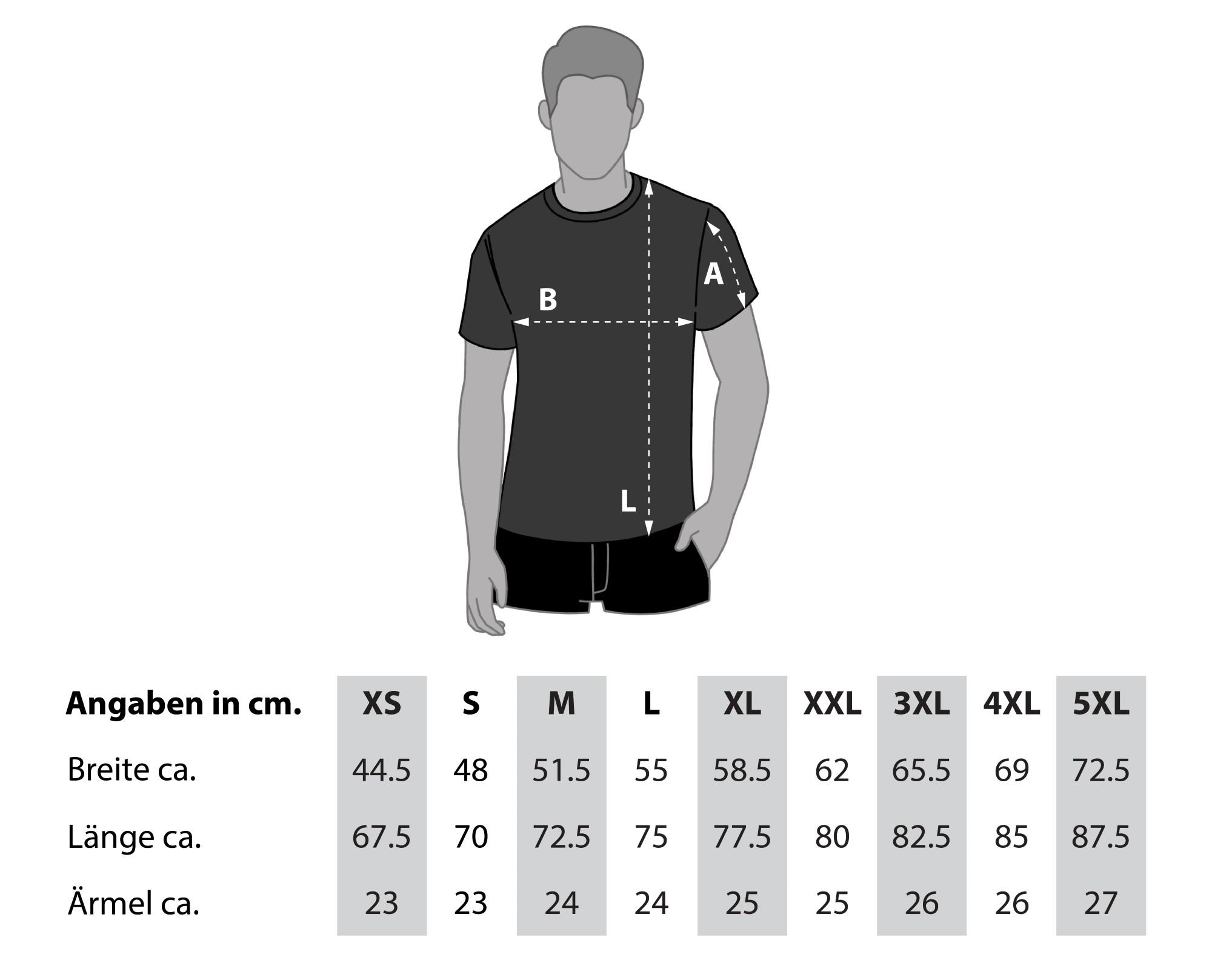 Größentabelle Herren Sport Shirt