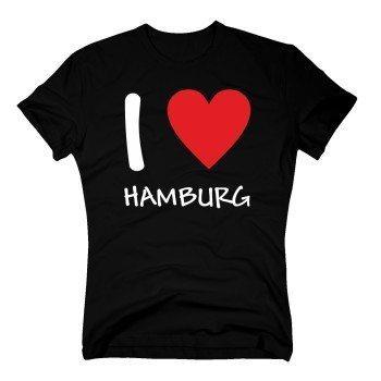 I love Hamburg - Herren T-Shirt - schwarz