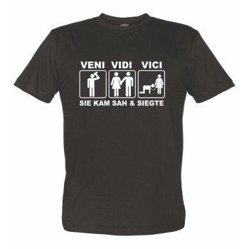JGA Sprüche - T-Shirt VENI VIDI VICI Junggesellenabschied schwarz
