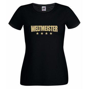 Weltmeister - Damen T-Shirt - schwarz