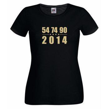 54, 74, 90, 2014 - Damen T-Shirt - schwarz