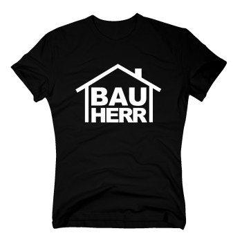 T-Shirt Bauherr - Herren T-Shirt für den Bau schwarz
