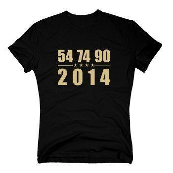 54, 74, 90, 2014 - Herren T-Shirt - schwarz
