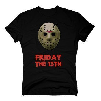 "Bedrucktes Shirt Jason Maske mit ""Friday the 13"" Text"