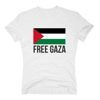 Free Gaza - Herren T-Shirt - weiß