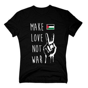 Make love not war - Herren T-Shirt mit Palästinaflagge - schwarz