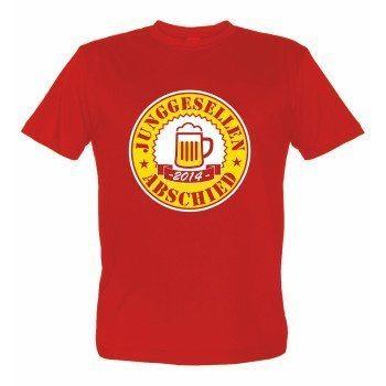 Junggesellenabschied 2014 - Herren T-Shirt - rot