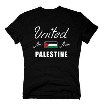 United for free Palestine - Herren T-Shirt - schwarz