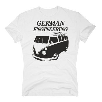 VW Bulli T-Shirt - Herren - Auto Bulli T1 weiss