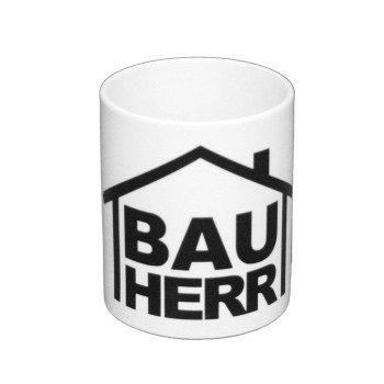 Geschenk Bauherr - Kaffeebecher Bauherr