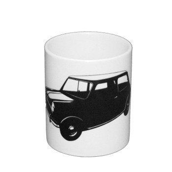 Mini Cooper - Kaffeebcher - weiß