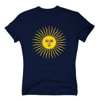 Herren T-Shirt mit Sonne - dunkelblau