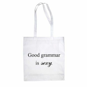 Good grammar is sexy - Jutebeutel - weiß