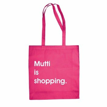 Mutti is shopping - Jutebeutel - pink