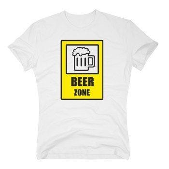 Beer Zone - Herren T-Shirt - weiß