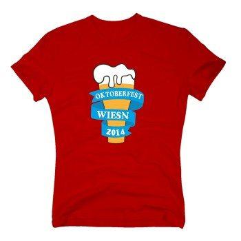 Oktoberfest Wiesn 2014 - Herren T-Shirt - rot
