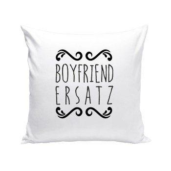 Boyfriend Ersatz - Dekokissen - weiß