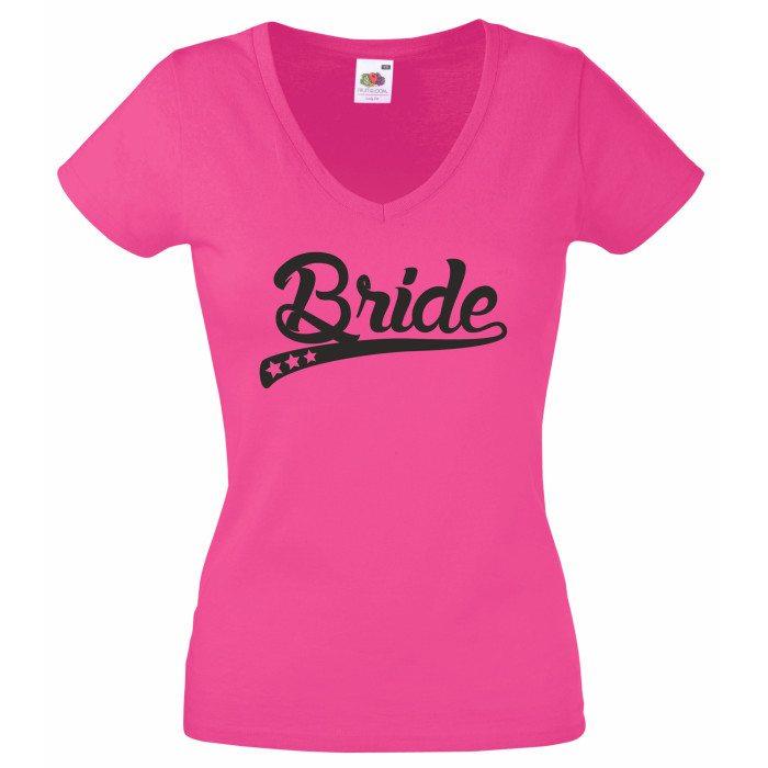 braut t shirt damen v ausschnitt bride stylische sterne jga. Black Bedroom Furniture Sets. Home Design Ideas