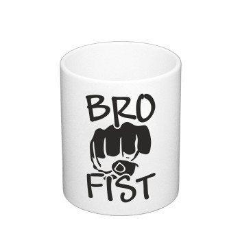 Bro Fist - Kaffeebecher mit Conchita Wurst - weiß