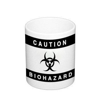 Caution Biohazard - Kaffeebecher mit Conchita Wurst - weiß