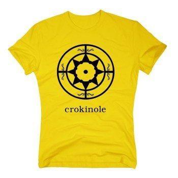 Crokinole - Herren T-Shirt - gelb
