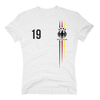 DEUTSCHLAND T-Shirt Herren - EM 2016 - mit Wunschnummer - Fußball Trikot Germany