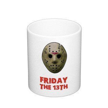 Friday the 13th - Kaffeebecher - weiß
