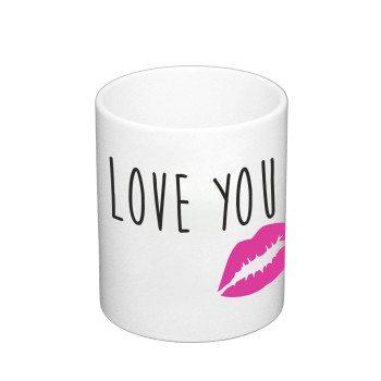 Love you - Kaffeebecher - weiß