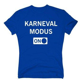 Karneval Modus on - Herren T-Shirt - blau