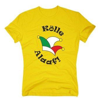 Kölle Alaaf! - Herren T-Shirt mit Karnevalshut - gelb