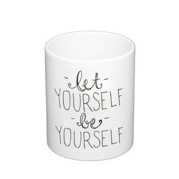 Let yourself be yourself - Kaffeebecher - weiß