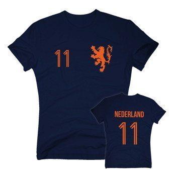 HOLLAND Trikot - Herren T-Shirt EM 2016 - mit Wunschnummer - Nederland Niederlande - von SHIRT DEPARTMENT