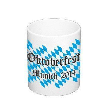 Oktoberfest München 2014 - Kaffeebecher - weiß