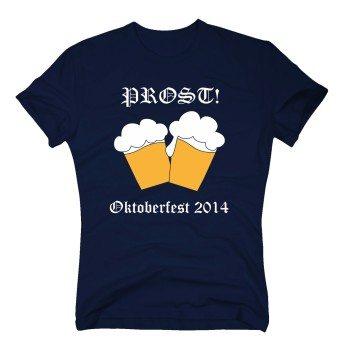 Prost Oktoberfest 2014 - Herren T-Shirt - dunkelblau