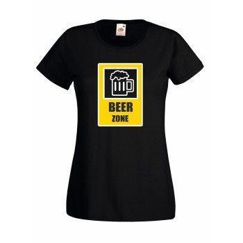 Beer Zone - Damen T-Shirt - schwarz