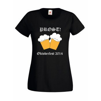 Prost! Oktoberfest 2014 - Damen T-Shirt - schwarz